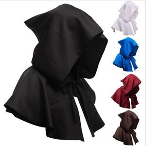 Sorcerer Death Cloak Solid Burnous Hoody Cloak Mantle Adult Hooded Cape Middle Ages Cape Cloak Halloween Cosplay Party Decoration LSK850