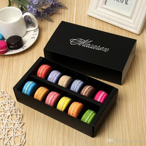 Big Macaron Box Cake Boxes 12-cell Cake Biscuit Muffin Cookie Packaging Box Chocolate Boxes 20*11*5cm Bakeware Supplies