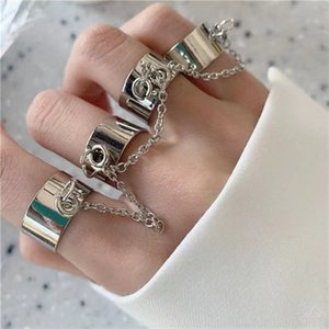 Heart Hollow Skull Personality Ring Dark Silver Luminous Band Ring Ladies Friend Gift Vintage Fashion Jewelry 2021 One-piece ring