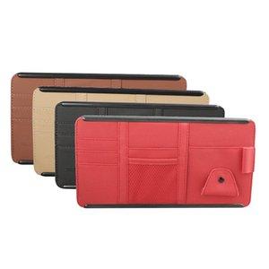 Car Organizer YOLU Sun Visor Card Clip Eye Bill Mobile Phone Certificate Storage Bag Red Black Beige Brown