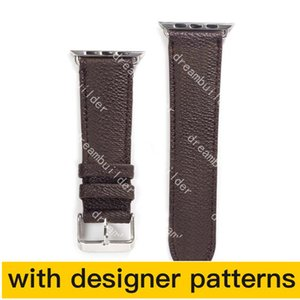Luxury Designer Relds Beatbands Bands Band 42 мм 38 мм 40 мм 44 мм Iwatch 2 3 4 5 полосы Кожаный ремешок браслет моды