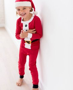Pyjamas Physical ShootingCotton SLE Home Kinder Set Red Christmas Tuch