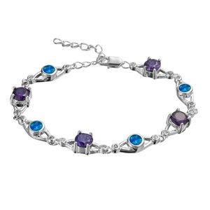FLEURE ESME TENNIS Bracelet élégant style cadeaux pour femmes cubes cubes zircone et blanche blanche opale plaqué rhodium r4048 r4049 link, chaîne