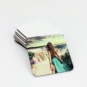 9*9cm Sublimation Coaster Wooden Blank Table Mats MDF Heat Insulation Thermal Transfer Cup Pads DIY Coaster EEB6093