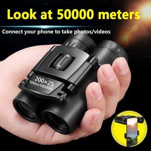 50000M Telescope Professional Binoculars,200x25,Mini Portable Folding Binoculars,High Zoom, Low Light Night Vision Telescope