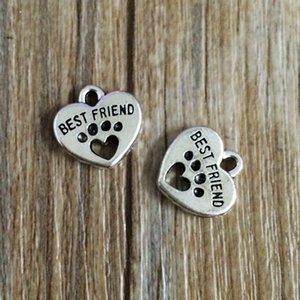 100pcs lot High quality Mixing Animal Dog Paw Prints & bones & dog bowl Charm Pendant Necklace Bracelet DIY Jewelry Making Finding A40 1122