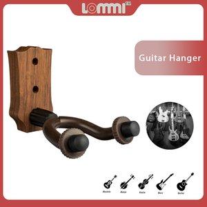 LOMMI Wall Mount Ukulele Guitar Hanger Hook Ukelele Uke Stringed Instrument Holder Keeper Rubber LP Guitar Style Head Hook SET