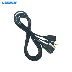 LEEWA Car Audio Music 3.5mm AUX Cable TO MMI Interface USB+Charger For Mercedes-Benz USB Wire Adapter #4821