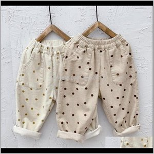 Leggings Tights Baby Clothing Baby, & Maternity Drop Delivery 2021 Fashion Children Boys Girls Corduroy Autumn Dot Trousers Kids Casual Pants