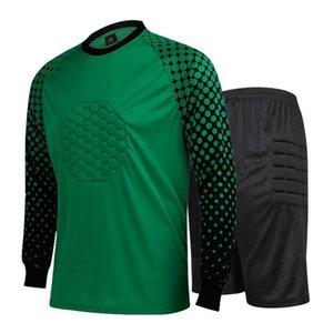2021 New long sleeves goalkeeper soccer jerseys Men kit Custom name Soccer Sets Football Tracksuits kit 002