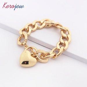 Link, Chain Korean European Fashion Geometric Gold Punk Heart Pendant Bracelets Bangles For Women Oorbelle Femme Jewelry Wholesale