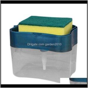 Press Type Dispenser Pump Organizer With Sponge Hand Sanitizer Liquid Soap For Household Bathroom Accessories Ryzou Okfml