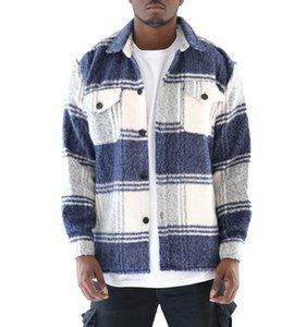 Jacket Design Men's & Coats High Street Plaid Check Flannel Jackets Mens Clothing