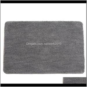 Accessories Home & Garden Drop Delivery 2021 Anti-Slip Microfiber Mat Bathroom Soft Carpet Comfortable Bath Pad Absorbent Dry Fast Design Sho