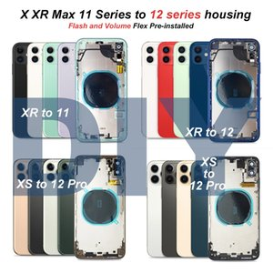 DIY Housings convert For iPhone XR Like X XS to 12 11 Pro Max Battery Rear Cover Back Glass Middle Frame Chassis Full Housing Assembly