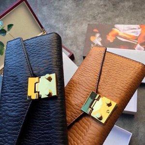 2021 디자이너 지갑 Unisex 카드 동전 여자 가죽 지갑 브랜드 카드 홀더 긴 비즈니스 하드웨어 액세서리 상자