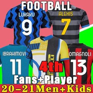 uzaklıkta Inter ERIKSEN Lukaku Lautaro ev 2020 2021 2019 Milan futbol forması Barella 19 20 21 futbol üst gömlek Erkekler Çocuk Setleri üniforma setleri