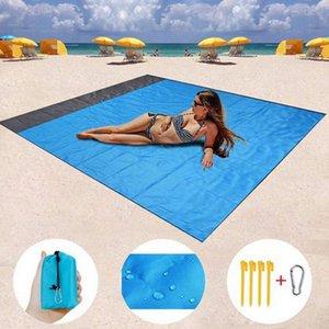 2M*1.4M Waterproof Beach Blanket Outdoor Portable Picnic Mat Camping Ground Mat Mattress Camping Bed Sleeping Pad CYZ3065
