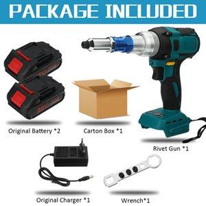 88VF Brushess Electric Common Tools Cordless Rivet Nut Gun Drill Insert Automatic Riveting Tool 18V Battery 2.4~5.0mm