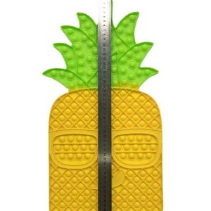 Super Large Size Pineapple Push Poppers Bubbles Children's Educational Toy Silicone Pressing Board Parent-child Fidget Decompression Toys Gifts G05M5BA