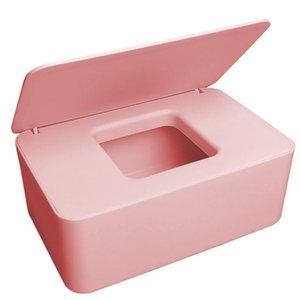 Tissue Boxes & Napkins Baby Box With Lid Paper Dispenser Container Napkin Storage Case Non-Slip Tissues Holder, Black