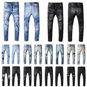 2021 Herren Designer Jeans Distressed Ripping Biker Slim Fit Motorcycle Biker Denim Für Männer Mode Mans Black Hose 20SS Giece Hommes