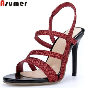 Large Size 34-46 Fashion Summer Shoes Woman Super High Heels Sandals Women Classic Prom Wedding 2021