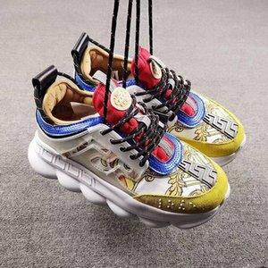 Platformu Rahat Sneakers Zincir Reaksiyon Deri Çizmeler Eğitmenler Klasik Orijinaller Patchwork Eğlence Açık Ayakkabı Platformu Dantel-Up Baskı Sneakers