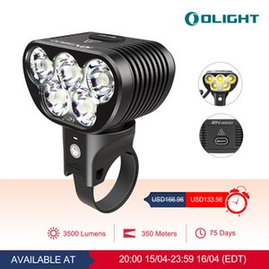 OLIGHT RN 3500 Rechargeable Bike Light Good assistant for biking, skiing, camping and adaptable mode settings in all-around outdoor night activities