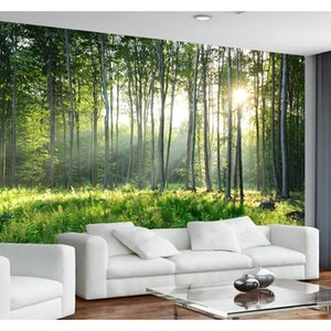 Wallpapers Décor & Garden Drop Delivery 2021 Custom Po Wallpaper 3D Green Forest Nature Landscape Large Murals Living Room Sofa Bedroom Moder