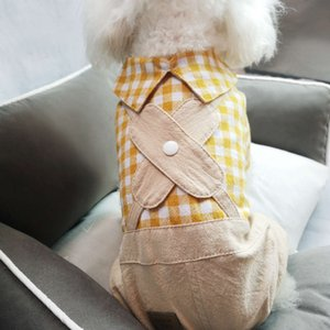 The dog clothes Pet clothes spring and teddy bears French fight small dog summer four legged thin