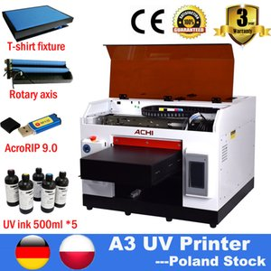 A3 UV Printer Rotary Flated Digital Automatic Printer Epson R1390 For Bottle T-shirt Printing Machine Available EU STOCK NO TAX