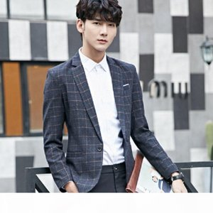 2020 Mens Plaid Leisure Slim Fit Blazers Male Single Button Clothing Plus Size 4XL 5XL Casual Office Blazer Masculino