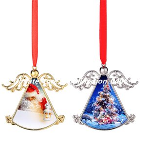 Sublimation Heat Transfer Printing Christmas Angel Pendant Easter Party Ornaments Decoration DIY Customization with Blank Aluminum Sheet