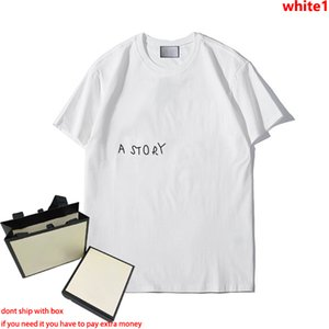 21SS Womens Mens Fashion T Shirts Summer Letters Pattern Tees Hiphop Streetwear Tops Boys Asian S-5xl Plus Size T-shirt 3 Colors Wholesale