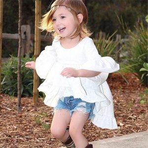 Girls Dress Girls Shorts Designer Brand Niños Niños Niños Baby Girls Trajes de verano Ropa Dovetail Dress + Denim Shorts 2pcs Set 710 S2