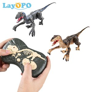 RC Dinosaur Toys Remote Control Intelligent Lighting Sound Walking Animals Jurassic Dinosaur Electric Controlled Toys for Kids