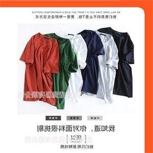 T-shirt round neck loose short sleeve advertising shirt stalls night market low