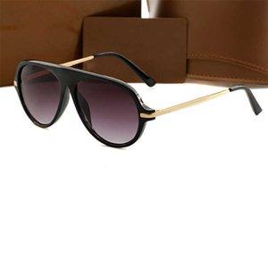Moda Klasik Lüks Tasarımcı Güneş Gözlüğü Tutum Altın Kare Metal Çerçeve Vintage Stil Açık Klasik Model 3GFX