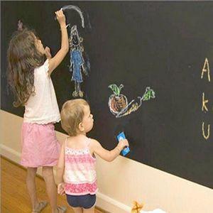 45x200 سنتيمتر الطباشير لوحة السبورة الملصقات للإزالة الفينيل رسم ديكور جدارية الشارات الفن الشارات السبورة الجدار ملصق للأطفال غرف الاطفال
