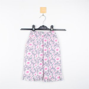 Shorts Mammakid Baby Kids Children Summer Girl Floral Print Short With Fringe Leg Ends In Grey Casual Sportswear
