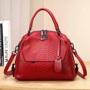 80% скидка на выпускном магазине Женщины Дикий серпантин узор с узором сумка сумка для волос натуральная кожа большая сумочка женское плечо леди Crossbody