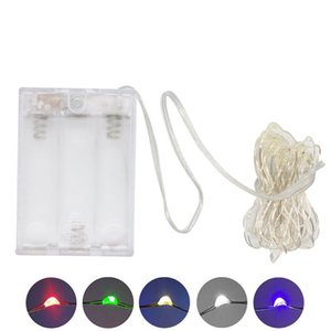 AA Battery Power Operated LED Copper Silver Wire Fairy Lights String 50Leds 5M Christmas Xmas Home Party Decoration Seed Lamp Outdoor