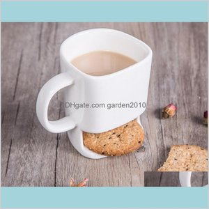 Mugs Drinkware Kitchen, Dining & Bar Home Garden Good Price 48Pcs 250Ml Ceramic Coffee Cup Side Cookie Biscuit Pocket Holder Milk Juic