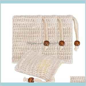 Bath Brushes, Sponges & Scrubbers Bathroom Accessories Home Garden Natural Exfoliating Mesh Soap Saver Sisal Bag Pouch Holder For Show