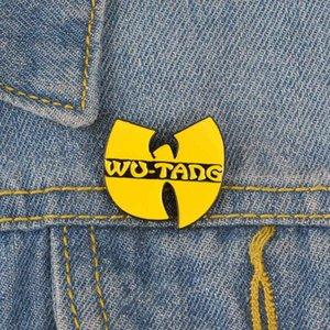 FactoryB9R1 Géométrie mignonne Broche jaune Wu-Tang Personnalité graphique Cartoon Creative Dessin animé spécial Nouvelle revers Denim Ba