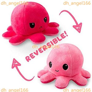 26 Styles favor Reversible Flip Octopus Stuffed Soft Double-sided Expression Plush Toy Baby Kids Gift Doll Wedding Festival Party Supplies