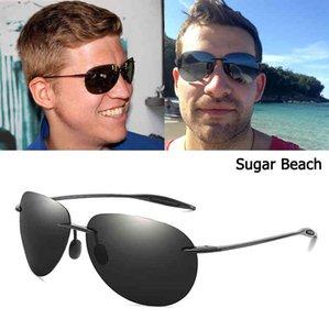 JackJad Fashion Sport TR90 Rimless Frame SUGAR BEACH Style Sunglasses Men Polarized Pilot Brand Design Sun Glasses Oculos Sol