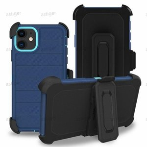 TPU + PC Defender Holster Belt Clip Clip Collections для iPhone 12 11 Pro Max Samsung Galaxy S20 ULTRA S10 PLUS S10E W / CICKAING COVER