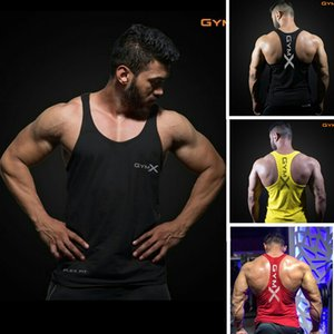 Brand Gym vest clothes fitness T-Shirts Mens Muscle bodybuilding undershirt Tank Top sleeveless clothing Cotton Crossfit M-2XL